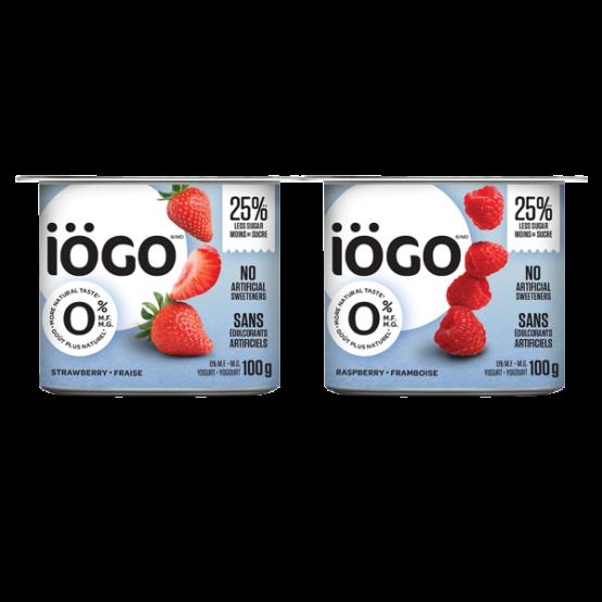 yogourt 0% fraise-framboise 4x100g