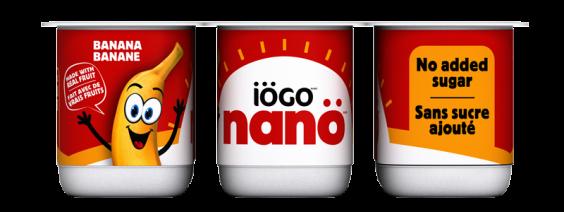 Yogourt iögo nanö banane sans sucre ajouté