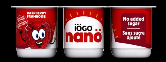 Yogourt iögo nanö au framboise sans sucre ajouté