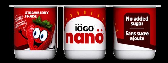 Yogourt iögo nanö au fraise sans sucre ajouté