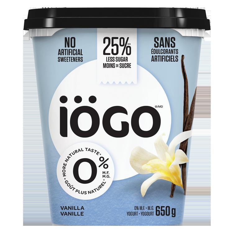 iögo 0% vanille contenant 650g