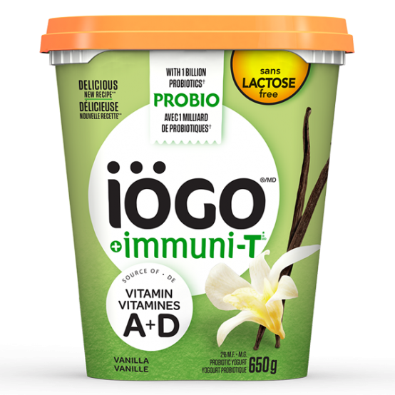 iögo yogourt immuniT vanille sans lactose 650g
