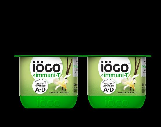 iögo immuniT vanilla yogurt 4x100g