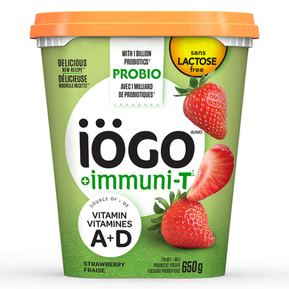 iögo ImmuniT Lactose-free yogurt strawberry 650g