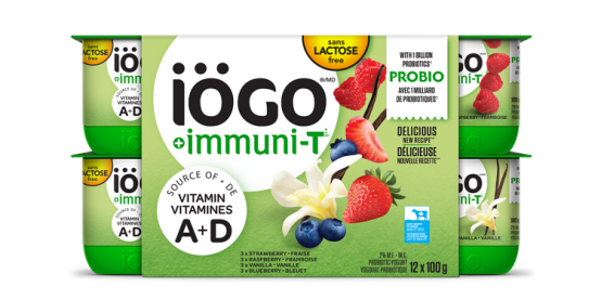 iögo ImmuniT yogurt strawberry-Raspberry-Blueberry-Vanilla 12x100g