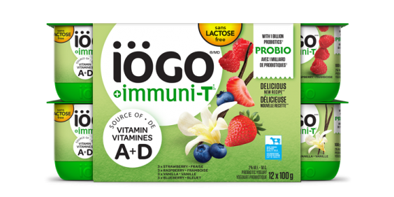 iögo ImmuniT yogurt strawberry-Raspberry-Blueberry-Vanilla 12x100g