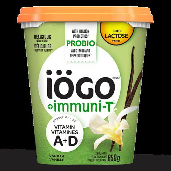 iögo immuniT lactose-free vanilla yogurt 650g