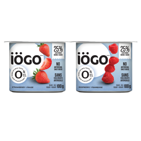 iögo yogurt 0% strawberry-raspberry 4x100g