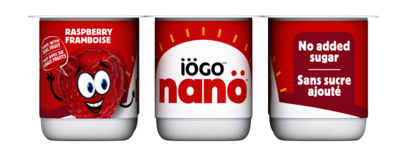 iögo nanö raspberry yogurt no added sugar