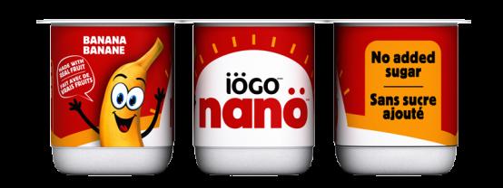 iögo nanö banana yogurt no added sugar