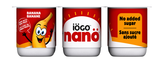 iögo nanö banana yogurt no added sugar