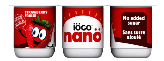 iögo nanö strawbeery yogurt no added sugar
