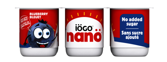 iögo nanö blueberry yogurt no added sugar