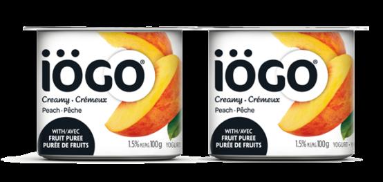 Iögo Creamy Peach Yogurt