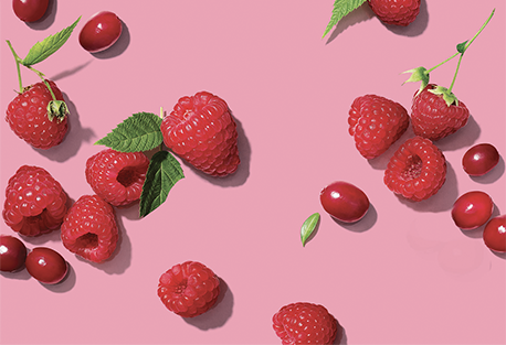 Raspberries-Cranberries